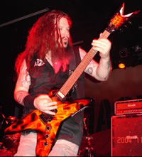 Dimebag Darrell and his Dean ML, courtesy of www.deanguitars.com