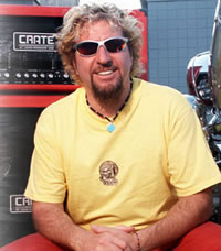 Sammy Hagar and Crate Amps, courtesy crateamps.com