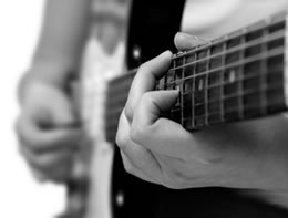 Fretted guitar chord