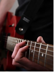 Learning to play guitar chords
