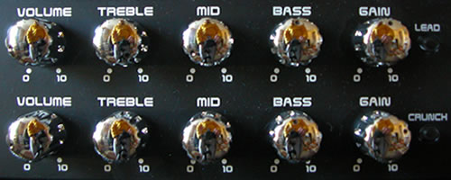The Lead and Crunch channel controls