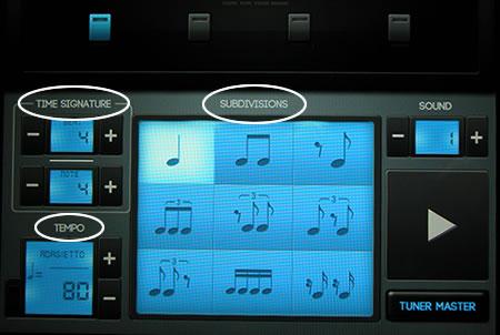 metronome main settings