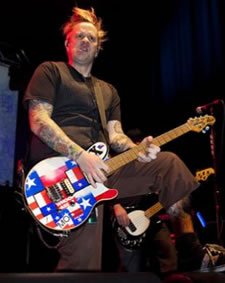 Jaret Reddick playing his Texas Music Man Axis guitar