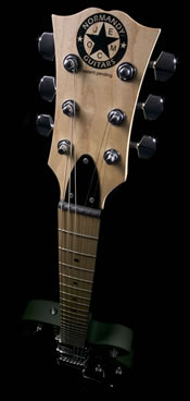 Normandy Guitars headstock up close and personal