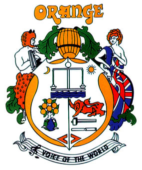 The Orange Amps Crest, courtesy www.orangeamps.com