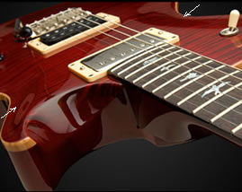 The PRS Mark Tremonti Signature Model carved top, courtesy prsguitars.com