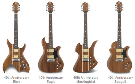 The B.C. Rich Handcrafted Guitars 40th Anniversary Models, courtesy of B.C. Rich Guitars