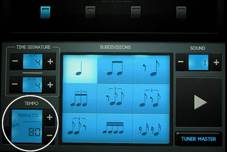 metronome tempo settings