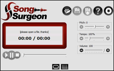 Song Surgeon main interface
