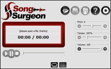 Song Surgeon main interface